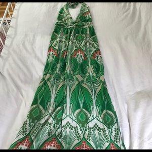 Vintage green maxi dress